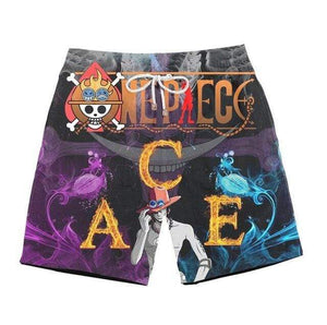 Boutique One Piece Short de Bain xxs Short de Bain One Piece Ace Mera Mera No Mi