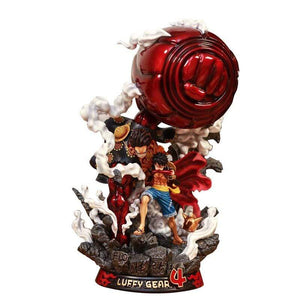Boutique One Piece Figurine One Piece Statue Collector One Piece Luffy Gear Second Et Gear Fourth