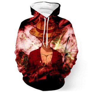 Boutique One Piece Sweat S Sweat One Piece Luffy au Chapeau de Paille Bad Ass