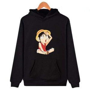 Boutique One Piece Sweat Noir / XXS Sweat One Piece Luffy Capitaine