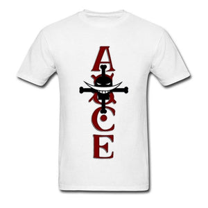Boutique One Piece T-shirt T-Shirt One Piece Ace au Poing Ardent Commandant de Barbe Blanche