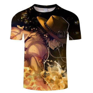 Boutique One Piece T-shirt T-Shirt One Piece Ace Le Fils De Roger