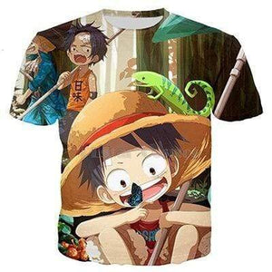 Boutique One Piece T-shirt XS T Shirt One Piece Kawaii Ace Et Luffy Enfant