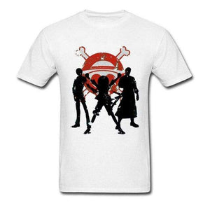 Boutique One Piece T-shirt Blanc / L T-shirt One Piece Le Monster Trio Des Chapeaux De Paille