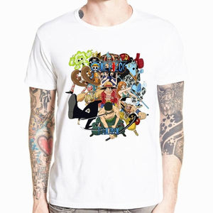 Boutique One Piece T-shirt xs T-Shirt One Piece Luffy et ses Nakamas