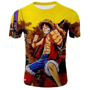 Boutique One Piece T-shirt 2XL T-Shirt One Piece Luffy Roi des Pirates en Herbe