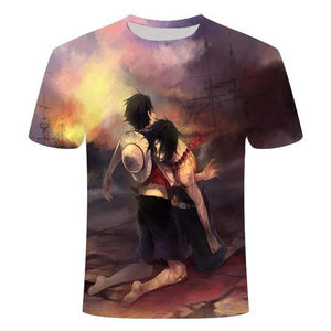 Boutique One Piece T-shirt XS T shirt One Piece Marineford La Mort D'un Frère