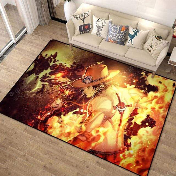Boutique One Piece Tapis 100x160cm Tapis One Piece Ace Aux Poings Ardent