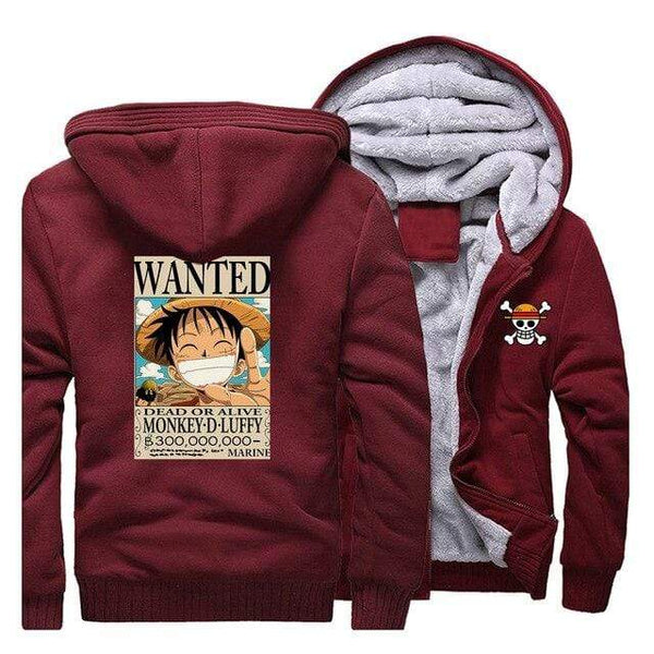 Boutique One Piece Veste Rouge / L Veste One Piece Avis de Recherche Mugiwara no Luffy