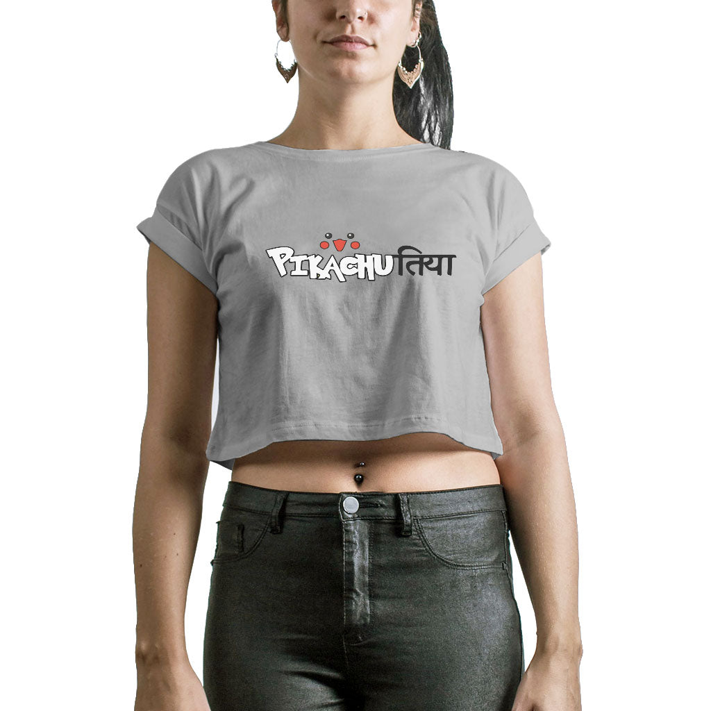 Pikachutiya Crop Tops