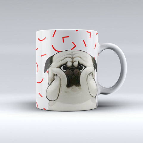 I Love Pug Coffee Mug