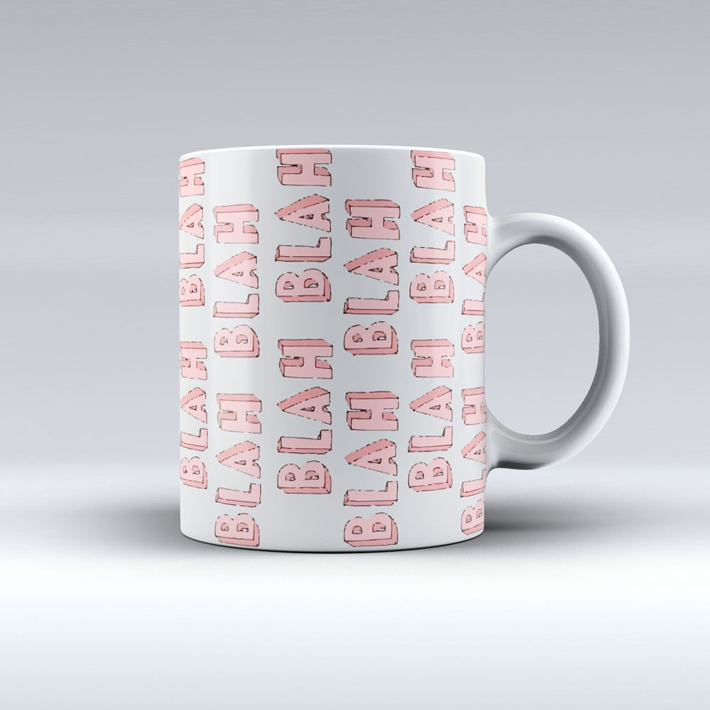 Blah Blah Design Coffee Mug