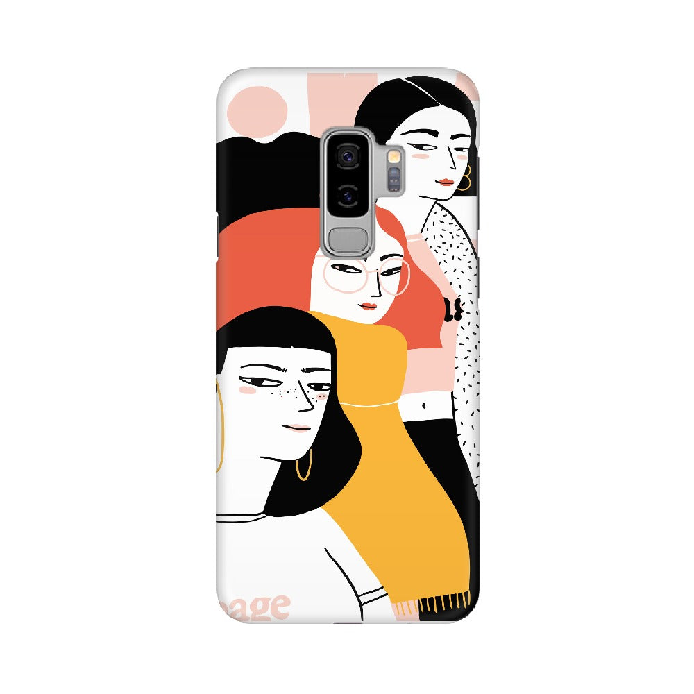 Three Girl Mobile Cover