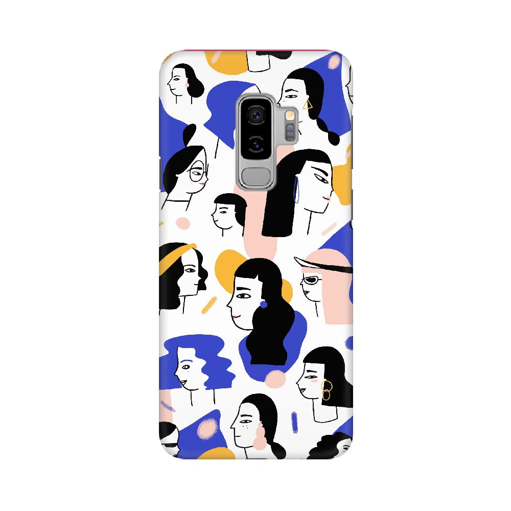 Purple Yellow Many Girl Mobile Cover