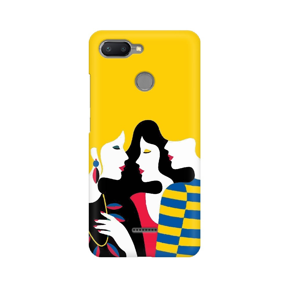 Fashionable Three Girl Mobile Cover