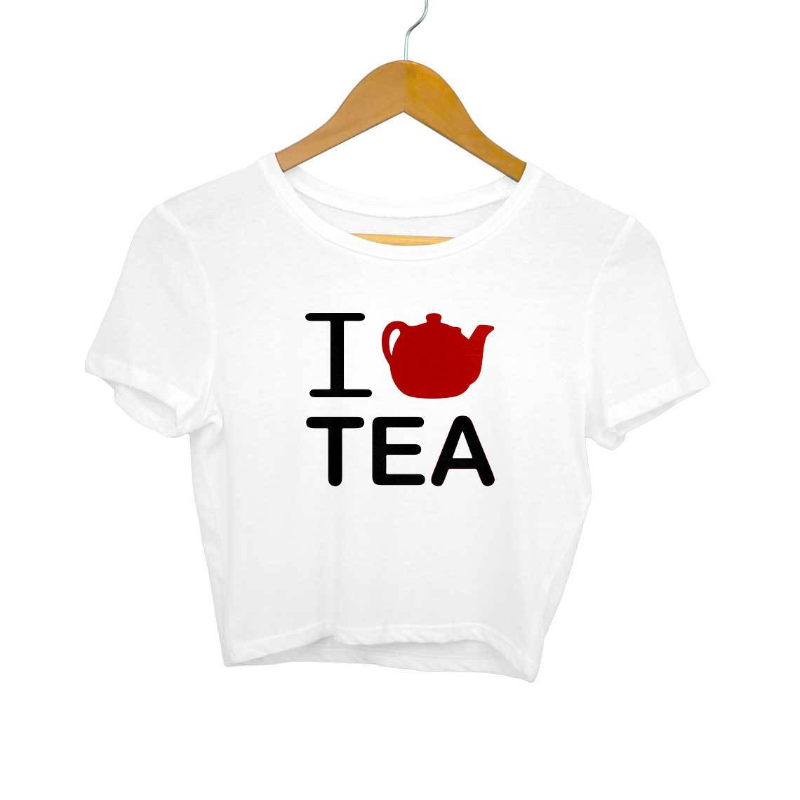 I Love Tea Crop Tops