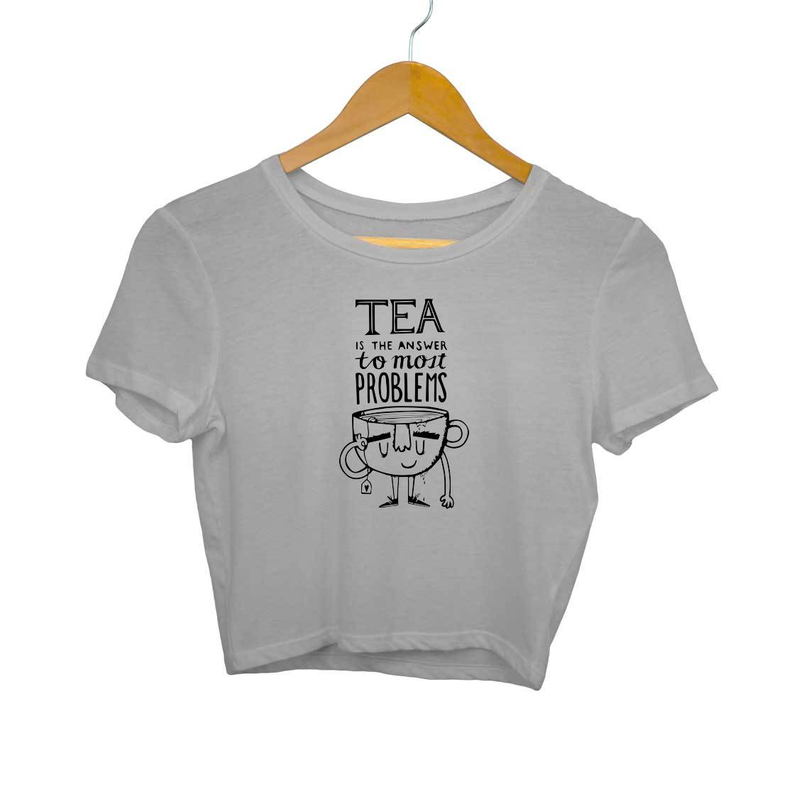 Tea Is The Answer Crop Tops