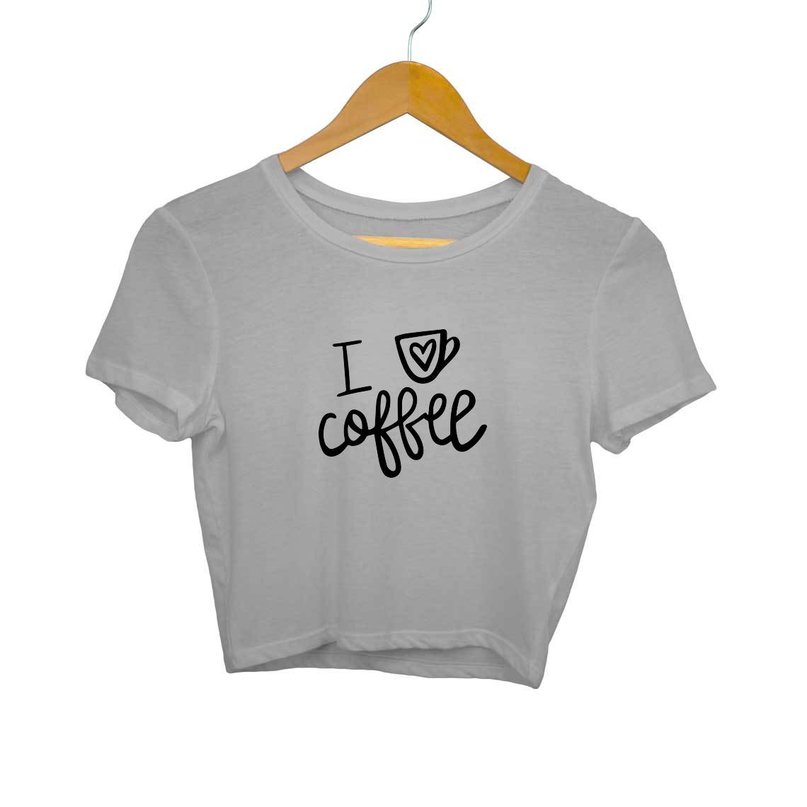 I Love Coffee Crop Tops