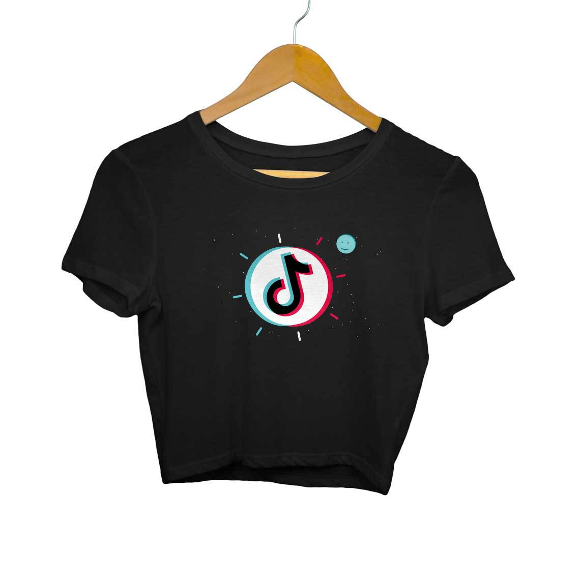 Space Tik Tok Crop Tops