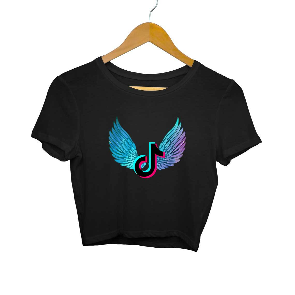 Flying Tik Tok Logo Crop Tops