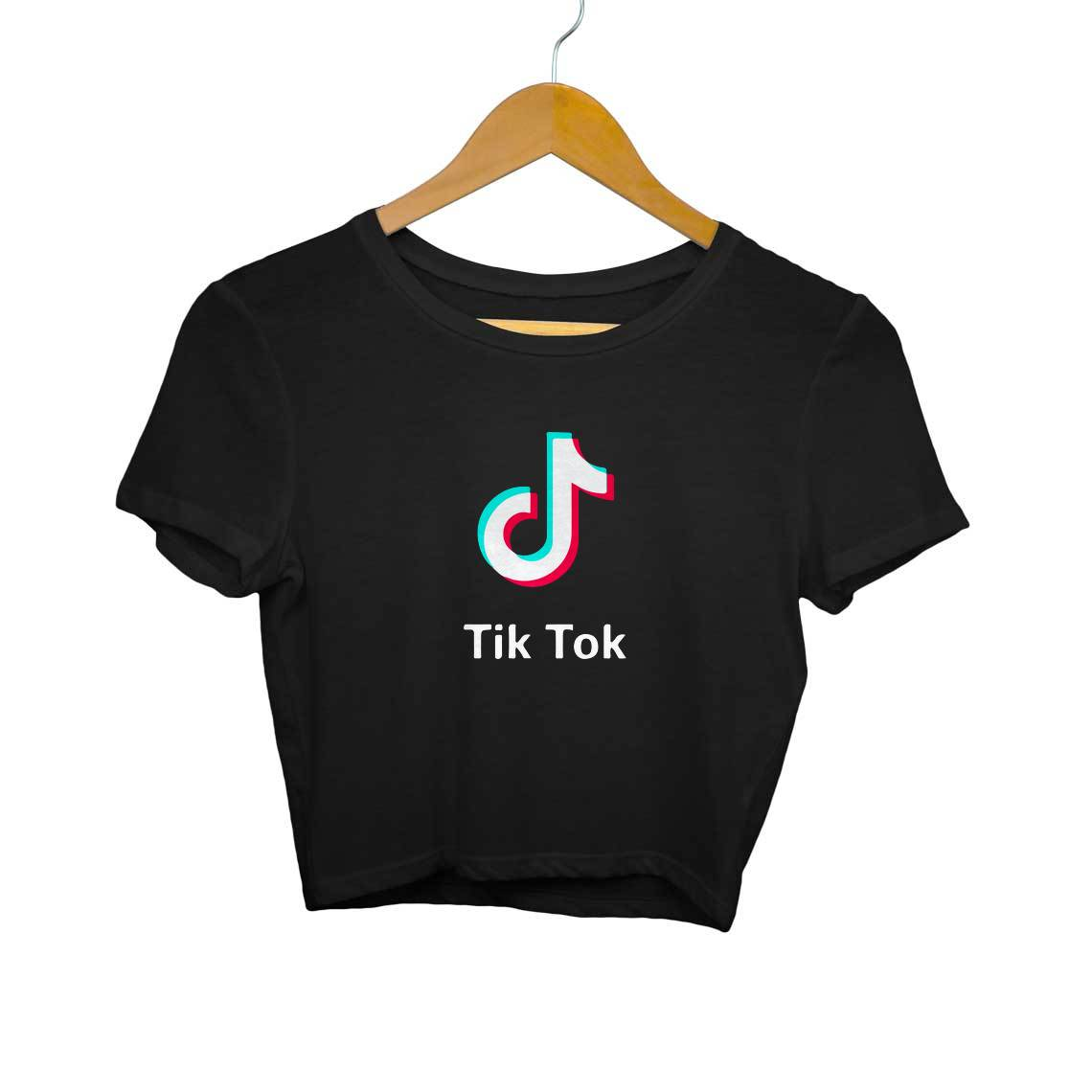 Tik Tok Logo Crop Tops