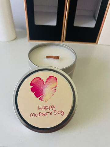 Mother's Day candle tin