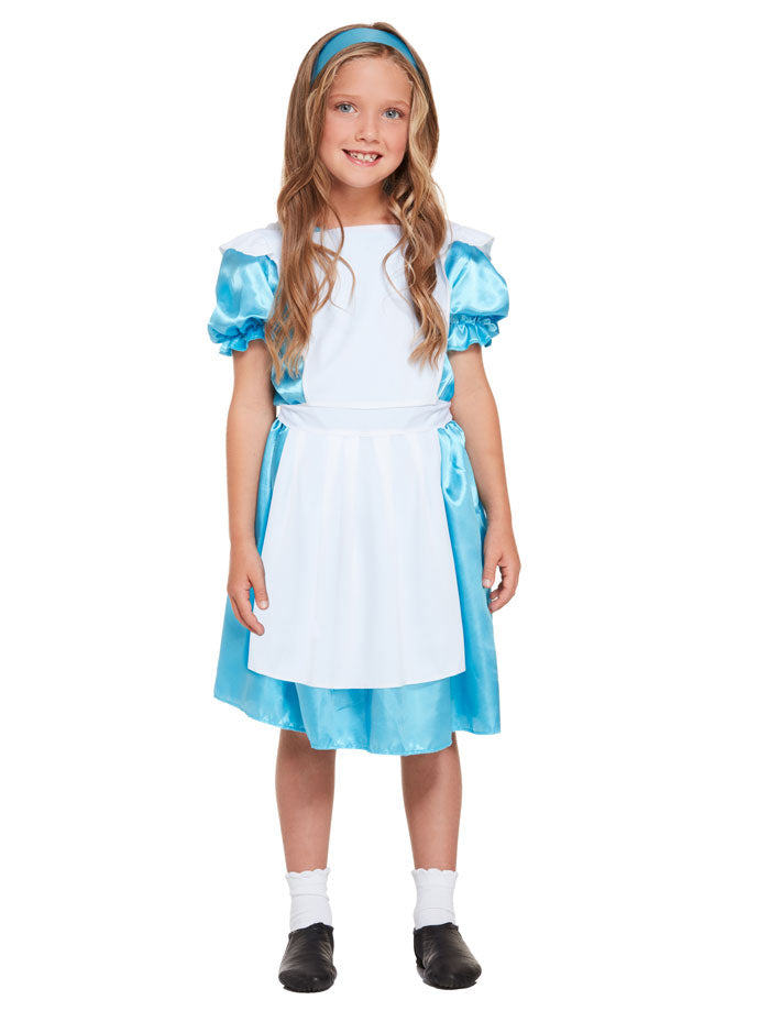 Girls Alice Wonderland Costume Children Book Week Fancy Dress Outfit