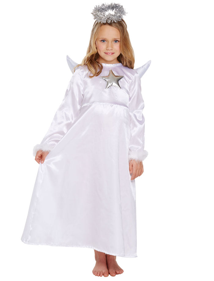 Child Angel Costume Christmas Nativity Outfit Girls Xmas Party Fancy Dress