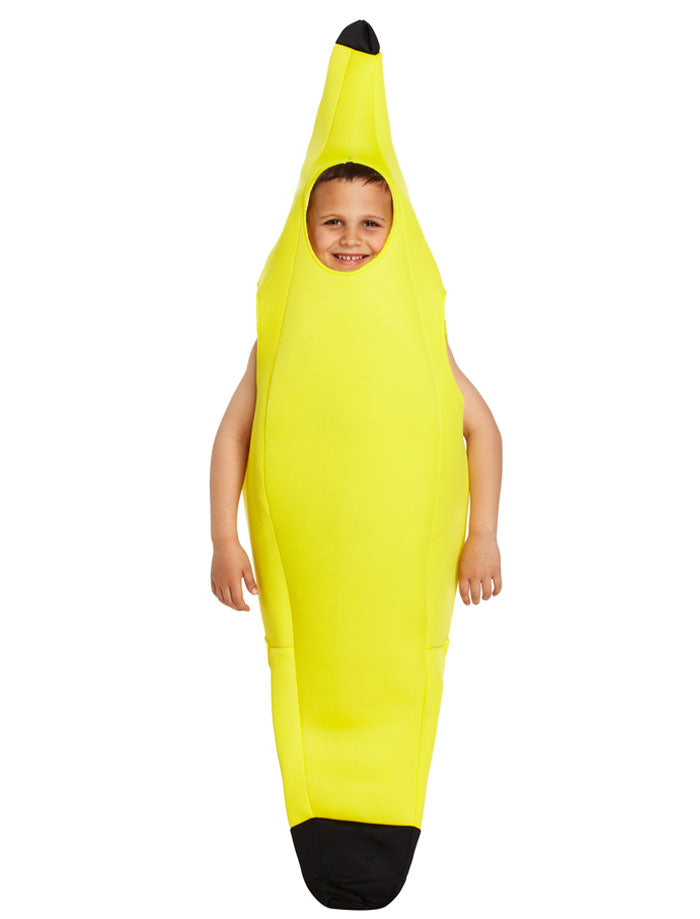 Boys Girls Banana Fruit Fancy Dress Costume Child Novelty Food Funny Outfit