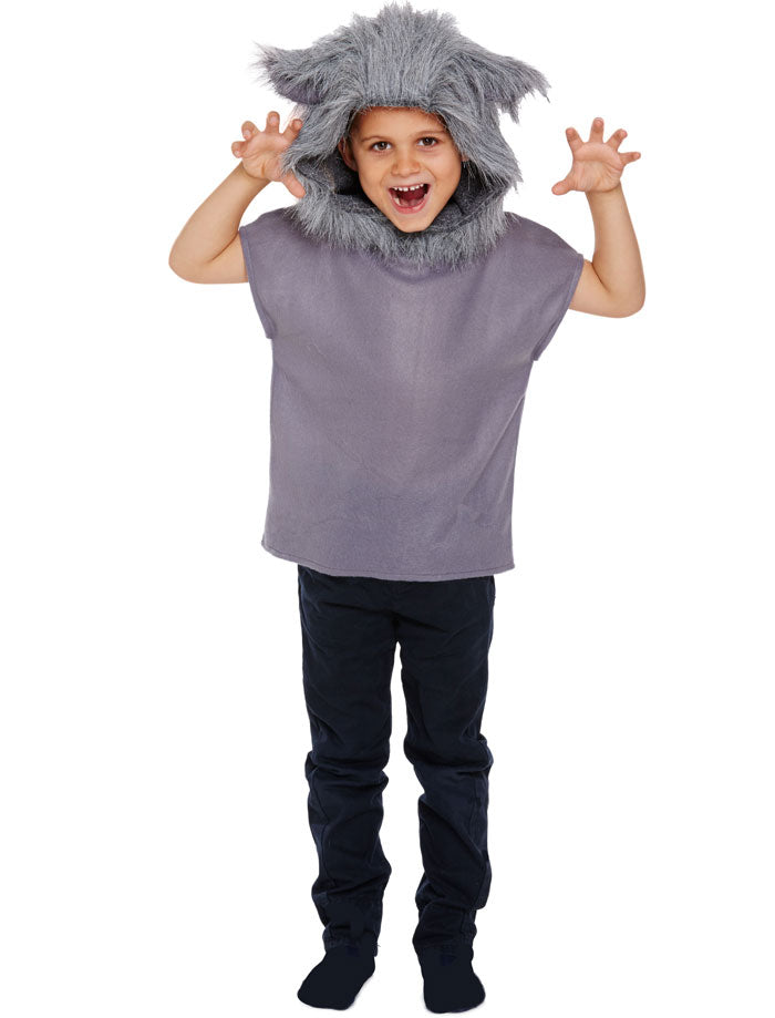 Child Wolf Costume Boys Girls World Book Day Fancy Dress Outfit