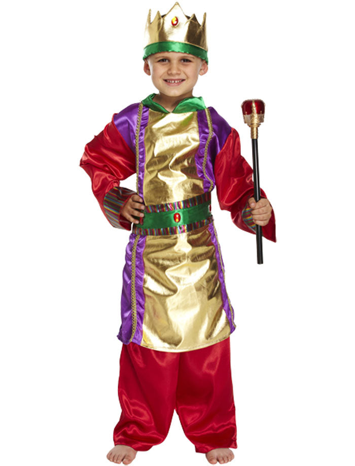 Boys King Costume Wise Christmas Fancy Dress Child Nativity Play Outfit