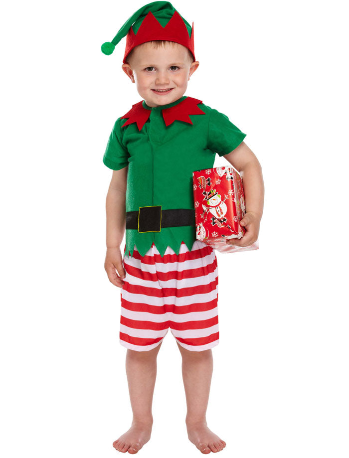 Toddler Santa Elf Little Helper Costume Xmas Party Christmas Fancy Dress 3 Years