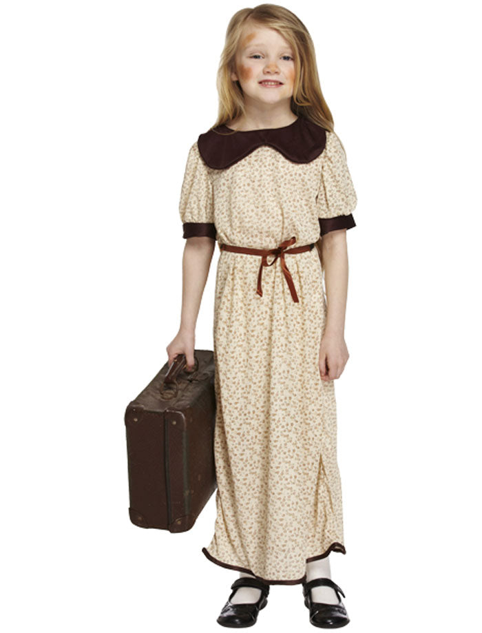 Evacuee Victorian Poor Girls Costume Kids Book Week Fancy Dress Outfit