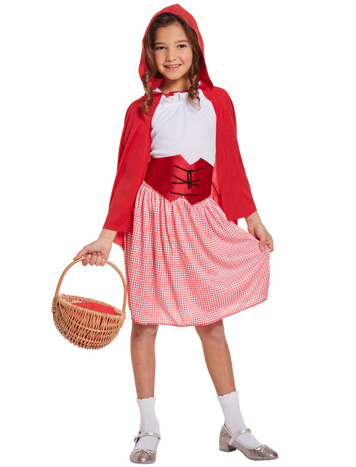Kids Little Red Riding Hood Girl Costume Children Book Week Fancy Dress Outfit