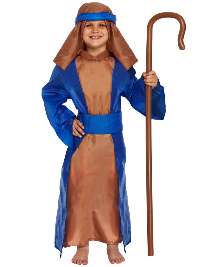 Children Blue Shepherd Joseph Christmas Nativity Xmas Play Fancy Dress Costume
