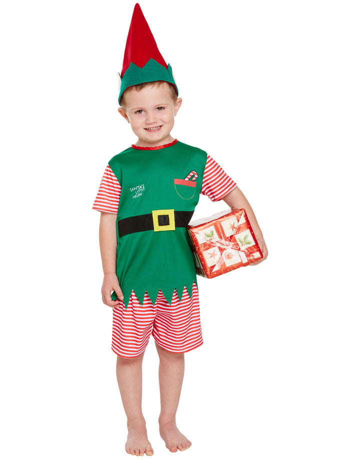 Toddler Santa Little Helper Costume Xmas Party Christmas Fancy Dress 3 Years