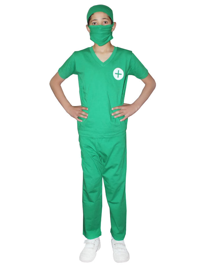 Child Surgeon Doctor Scrubs Costume Boy Girls Book Week Fancy Dress Outfit