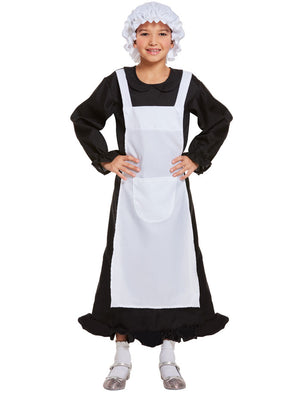 Child Victorian Maid Poor Girls Book Week Fancy Dress Costume Outfit