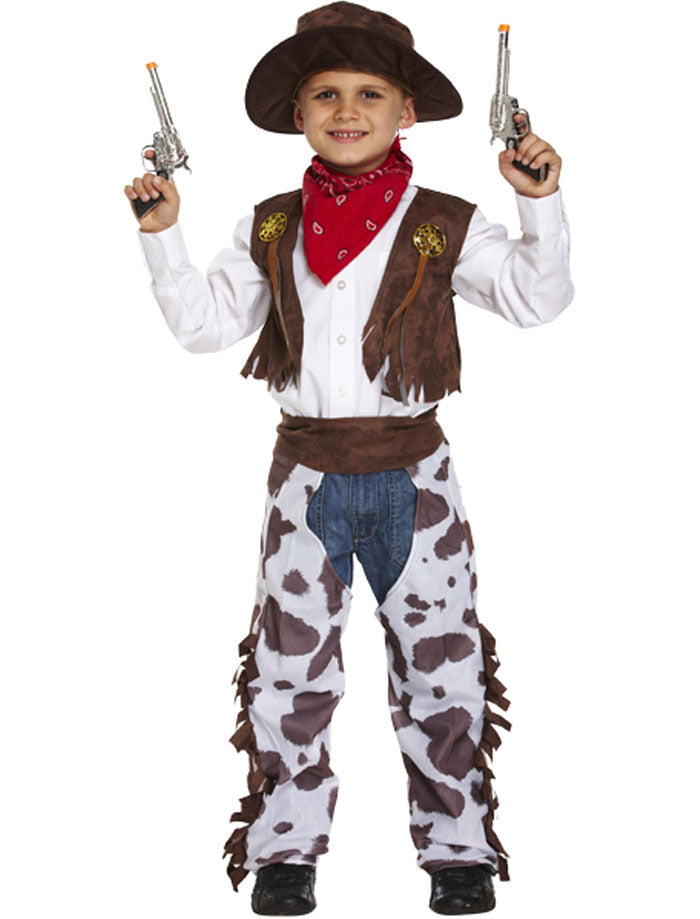 Child Cowboy Costume Boys Western Fancy Dress Book Week Outfit
