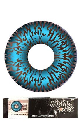 Wicked Eyes Daily Contact Lenses Electric Blue
