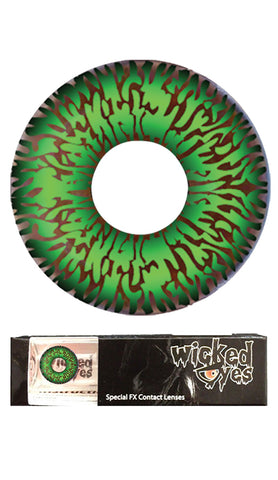 Wicked Eyes Daily Party Aqua Contact Lense