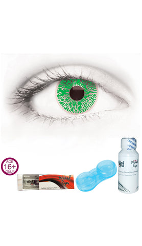 30 Day Contact Lense - Green Lizard