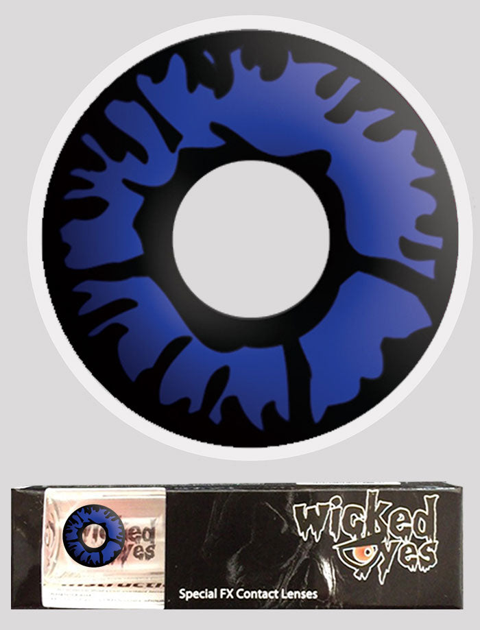 Wicked Eyes Daily Contact Lenses Blue Flame