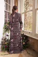 Load image into Gallery viewer, Bridesmaid Long Sleeve Floral Wrap Dress