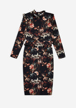Load image into Gallery viewer, Floral Pencil Dress with Ruffle Sleeves