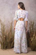 Load image into Gallery viewer, Short Sleeve Maxi Dress With Cut Out Back