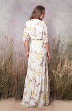 Load image into Gallery viewer, Fluted Sleeve Wrap Maxi Dress With Tiered Hem