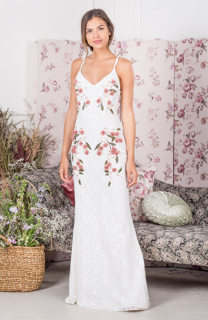 Lace Cami Maxi With 3D Applique