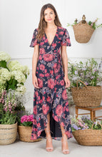 Load image into Gallery viewer, Short Sleeve Wrap Maxi With Cut Out
