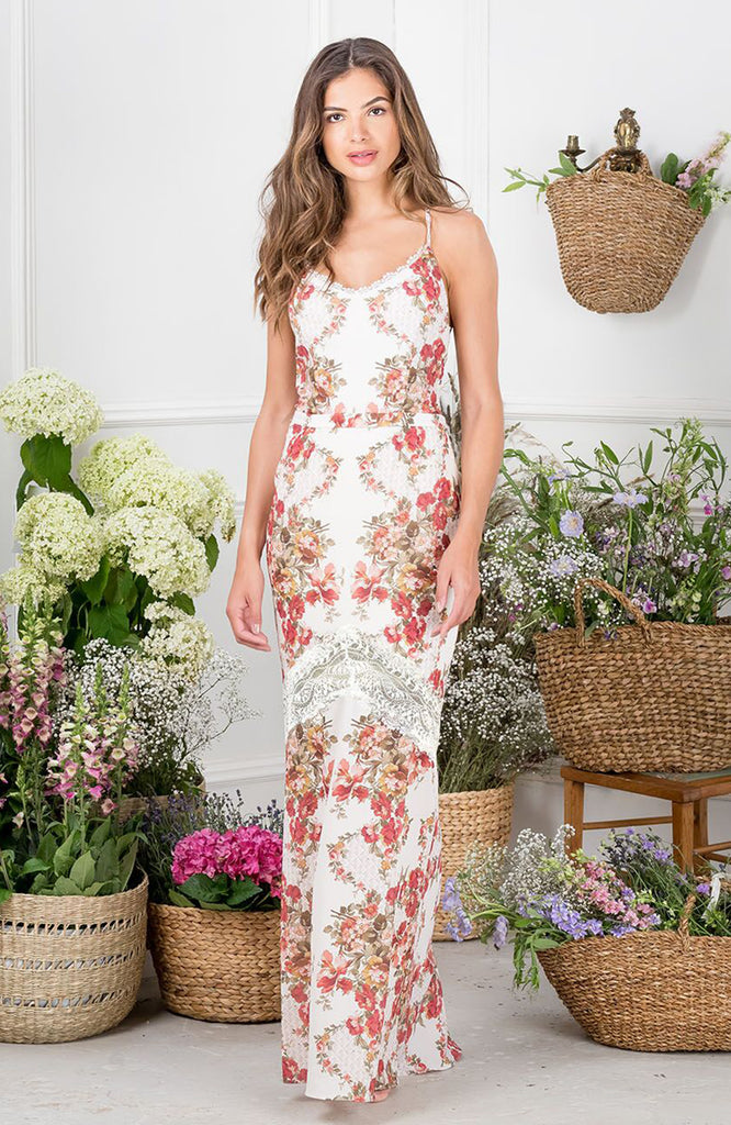Lace Up Back Maxi With Crochet Trim